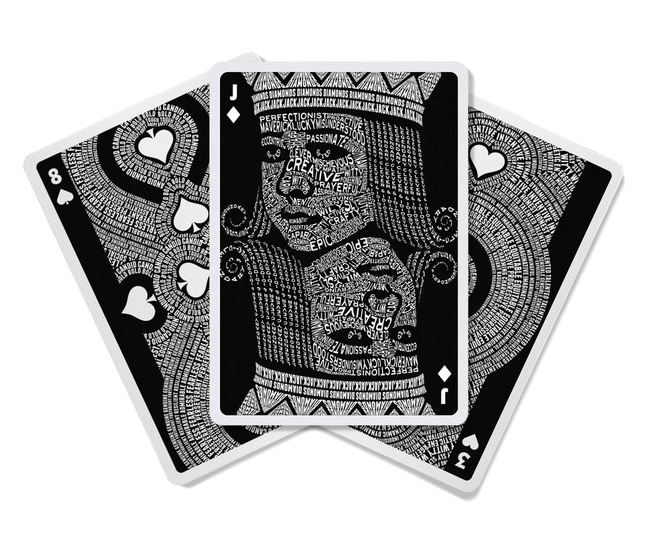 limited edition typographic playing cards